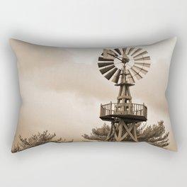 Power Wind Mill Rectangular Pillow