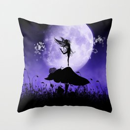 Fairy Silhouette 2 Throw Pillow