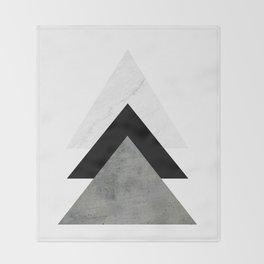 Arrows Monochrome Collage Throw Blanket