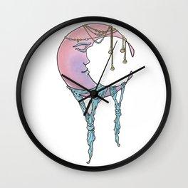 Wandering Moon Wall Clock