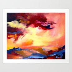 landscape, sunset Art Print