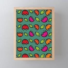 folk  flower collection Framed Mini Art Print