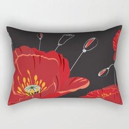 Poppy variation 8 Rectangular Pillow
