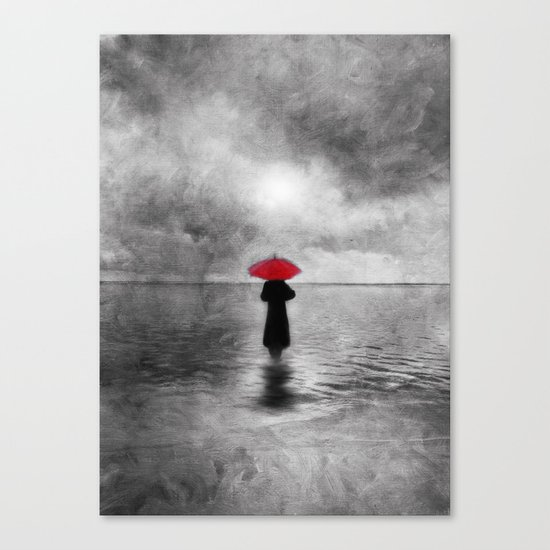 waiting in the sea II  -  by Viviana Gonzalez Canvas Print