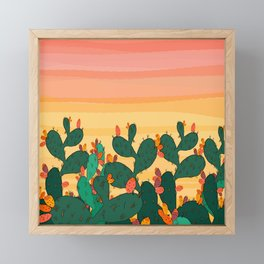 Opuntia ficus Framed Mini Art Print