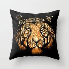 Hidden Hunter Throw Pillow