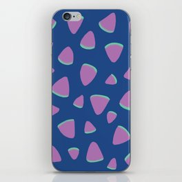 Abstract Graphic Pattern | Blue | Pink | Green iPhone Skin