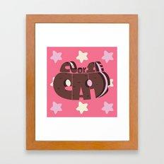 Cookie cat steven universe Framed Art Print