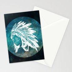 Moon Child Goddess Bohemian Girl Stationery Cards