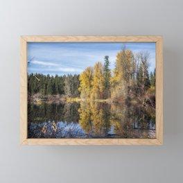 Autumn Makes an Appearance at Fish Lake Framed Mini Art Print
