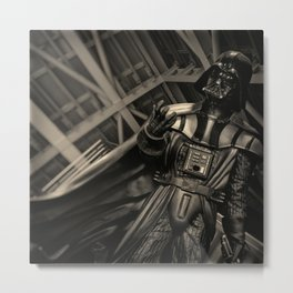 Armored Guy Counting His Fingers Metal Print
