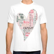 Shakespeare's Romeo and Juliet Heart Mens Fitted Tee White MEDIUM