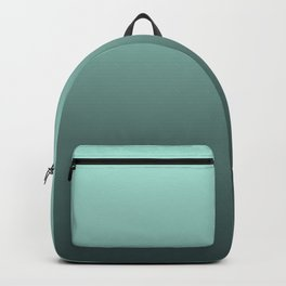 Grey, turquoise Ombre. Backpack