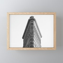 Flatiron Black and White NYC Framed Mini Art Print