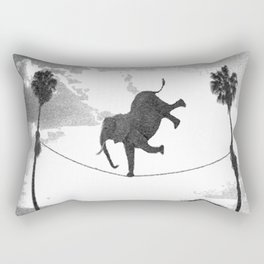 The elephant on the tightrope Rectangular Pillow