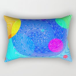Re-Created Twisters No. 5 by Robert S. Lee Rectangular Pillow