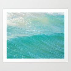 Lull. Beach photograph. Hermosa Beach California Art Print