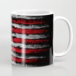 Red & white Grunge American flag Coffee Mug