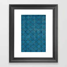 Overdyed Rug 1 Aqua Framed Art Print
