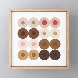 Breast Wishes (white) Framed Mini Art Print