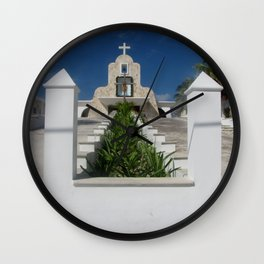 Church on Isla Mujeres Wall Clock