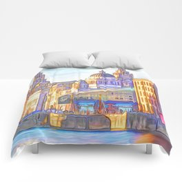 World famous Three Graces (Digital painting) Comforters