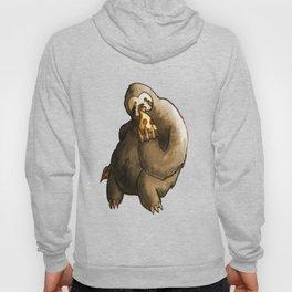 kawaii sloth eating pizza Hoody