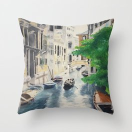 Venice digital print Throw Pillow