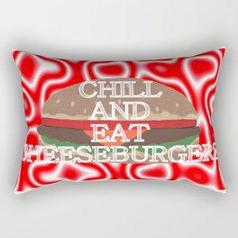 Chill And Eat Cheeseburgers Rectangular Pillow