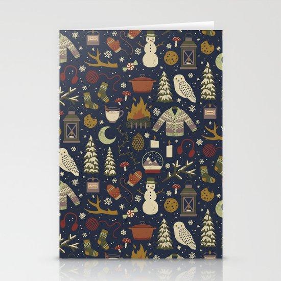 Winter Nights Stationery Cards