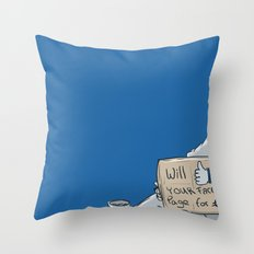 Will like your Facebook page for € Throw Pillow