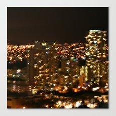 Honolulu City Lights Canvas Print