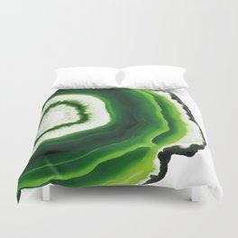 Green Agate Geode slice Duvet Cover