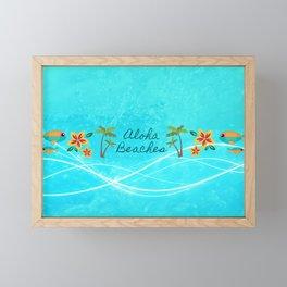 Aloha Beaches Framed Mini Art Print