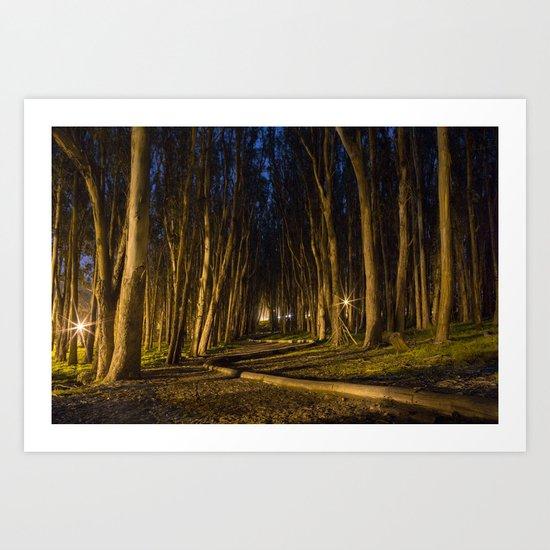 Woodline Art Print