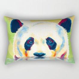 Panda taking a bath Rectangular Pillow