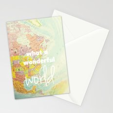 What a Wonderful World Stationery Cards