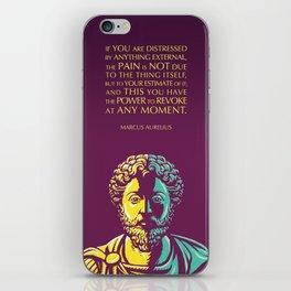 Marcus Aurelius Inspirational Stoic Quote: The Power to Revoke iPhone Skin