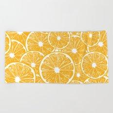 Orange slices pattern design Beach Towel