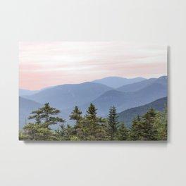 Hazy Mountains Metal Print