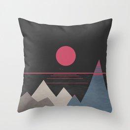 Minimal Sunset 10 Throw Pillow