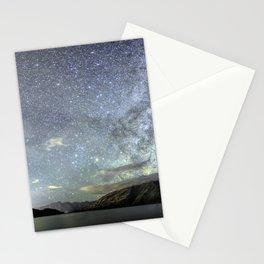 New Zealand Southern Hemisphere Skies Over Lake Wakatipu by OLena Art Stationery Cards