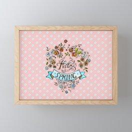 Hello Spring - by Fanitsa Petrou Framed Mini Art Print