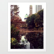Reflections in Central Park Art Print