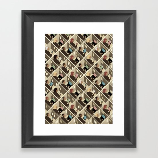 Cubicles Framed Art Print