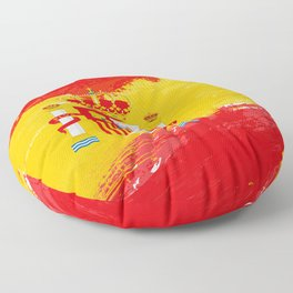 Spain's Flag Design Floor Pillow