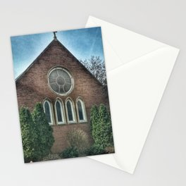Christ Church Rose Window in Moline, Illinois Stationery Cards