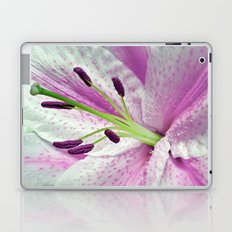 Pink Lily in Macro Laptop & iPad Skin