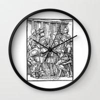 ale giorgini Wall Clocks featuring Ale + Quail by trompkins