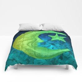 Magical Shining Half Moon with Star Comforters